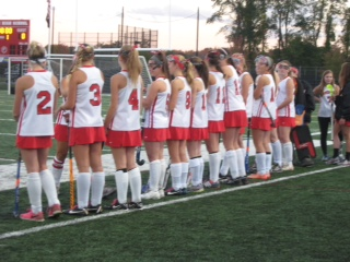 Hingham Field Hockey Faces Off Against Hanover.