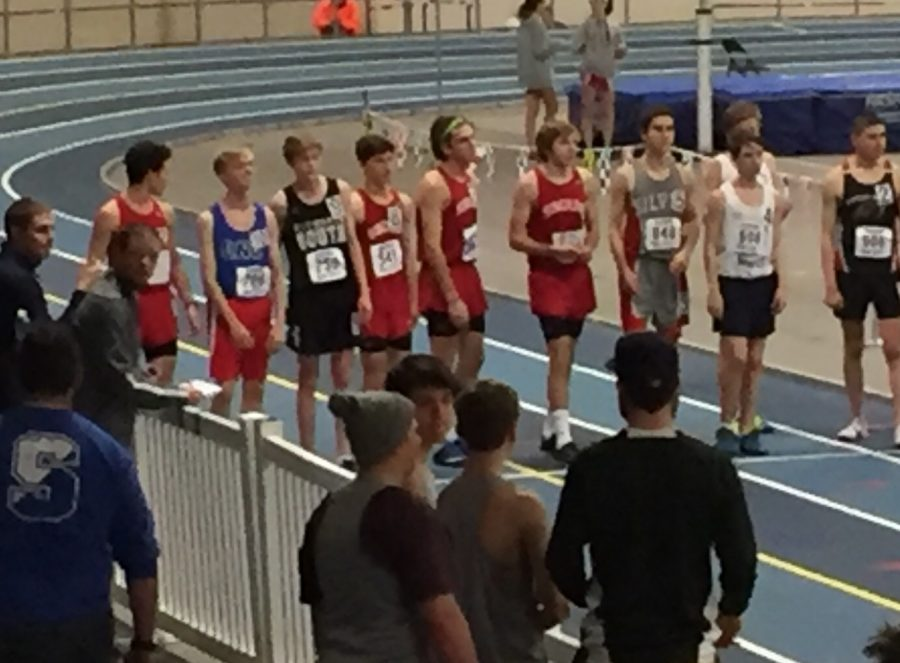 Left+to+right%2C+Hingham+Juniors+Joe+Marwill+and+Michael+Hill+and+Seniors+Jack+Muldoon+and+Kyle+Sutton+take+the+2+mile+race+head+on.+