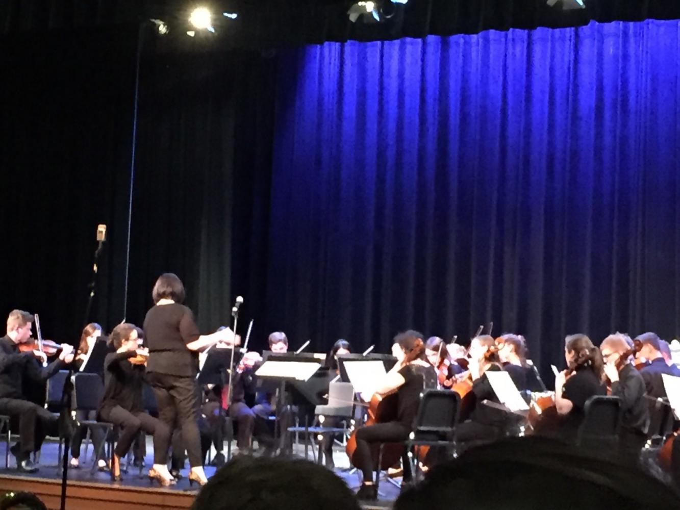 Ms. Sassano's chamber winds stringing the audience along with their encore Pirates of the Caribbean.