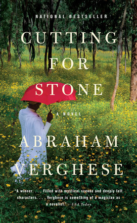The cover of Verghese's Cutting for Stone.