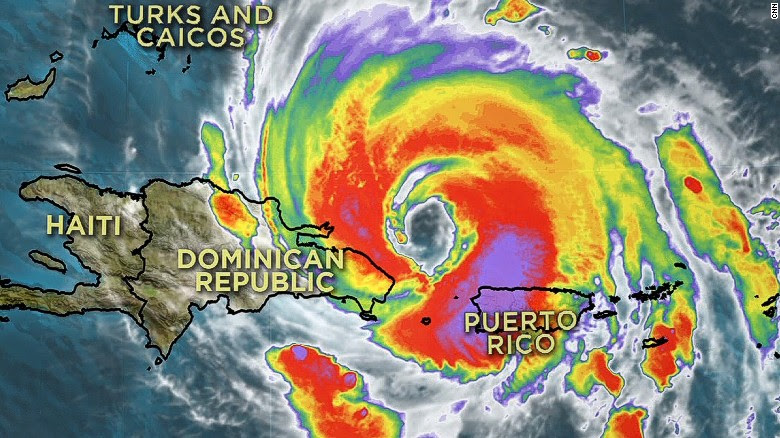 At+Hurricane+Maria%27s+peak%2C+the+storm+made+landfall+on+Puerto+Rico+and+the+Dominican+Republic%2C+causing+damage+on+most+of+the+island.+%28Graphic+courtesy+CNN%29
