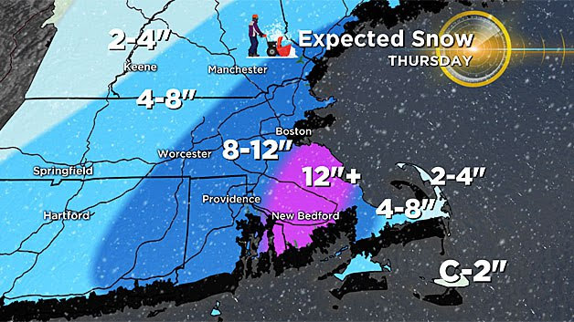 Hingham+received+over+twelve+inches+of+snow+on+Thursday%2C+forcing+Hingham+Public+Schools+to+close+on+Thursday+and+Friday+and+making+the+four+day+school+week+only+two+days.+For+some+students%2C+these+snow+days+made+the+Winter+Vacation+feel+longer+than+others.+%0APhoto+via+CBS+Boston