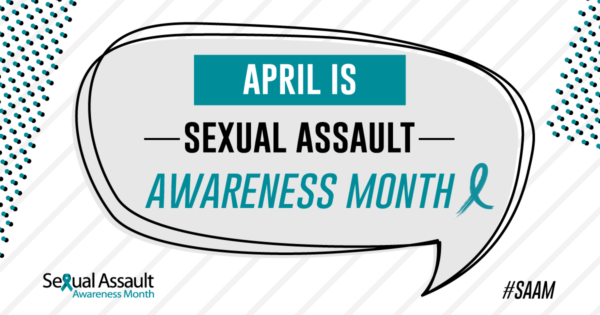 The National Sexual Violence Resource Center promotes SAAM with this creative graphic (NSVRC).