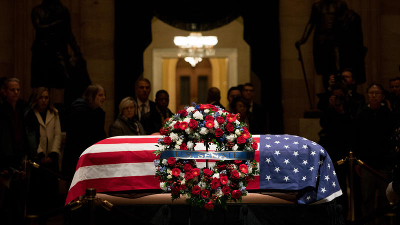 Former+President+George+HW+Bush%27s+state+funeral+took+place+on+Wednesday%2C+Dec.+5.+%28Cameron+Pollack+for+NPR%29.