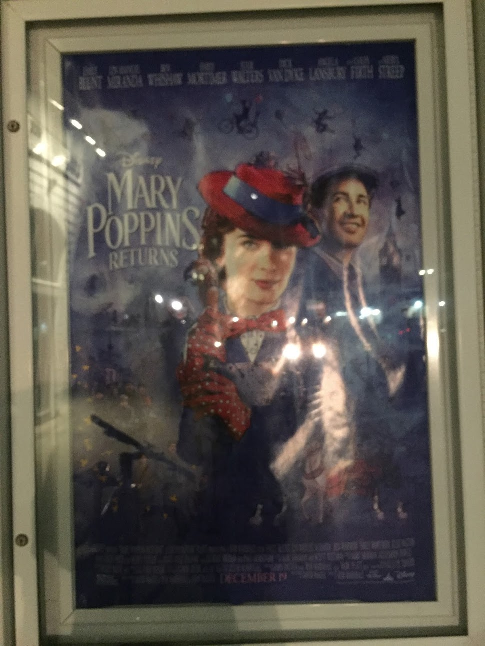 The movie's poster hangs outside Patriot Cinemas.