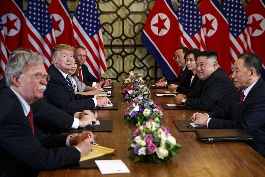 Trump+and+Kim+Jong-Un+at+this+week%27s+talks.+%28AP+Photo%3A+Evan+Vucci%29