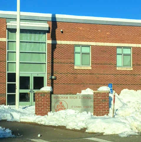 Hingham High School, along with all other schools in the district, was closed on Monday, March 4 after Hingham's snowfall total exceeded one foot.