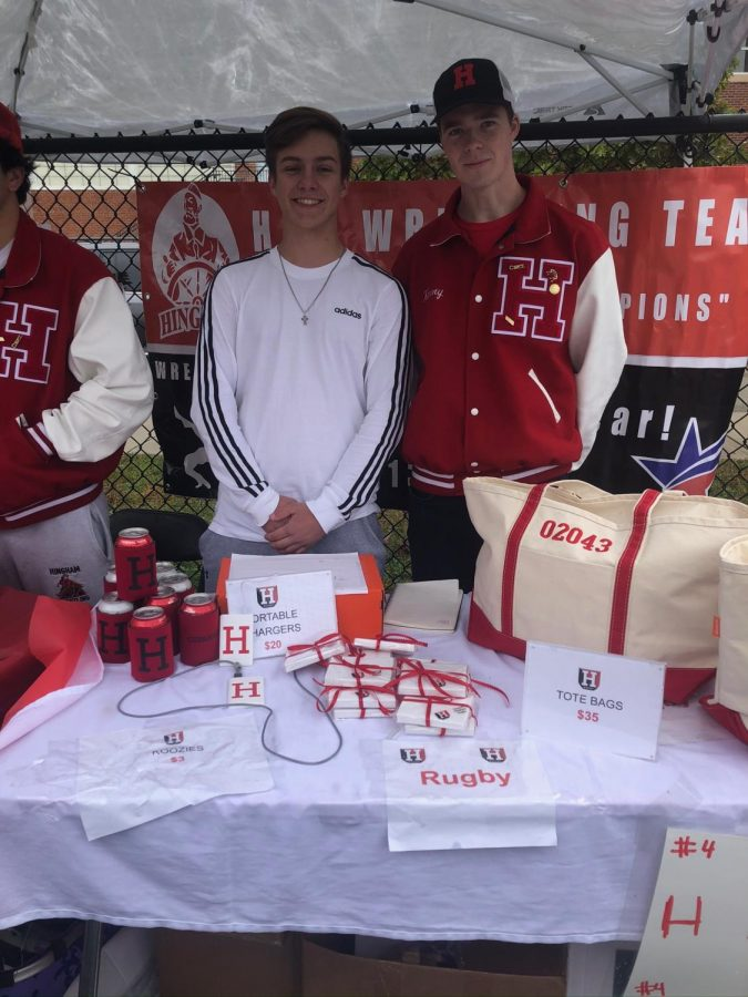 Senior%27s+Andrew+Gutnichenko+and+Luke+Kenny+represent+the+Hingham+Rugby+Team+at+Homecoming.