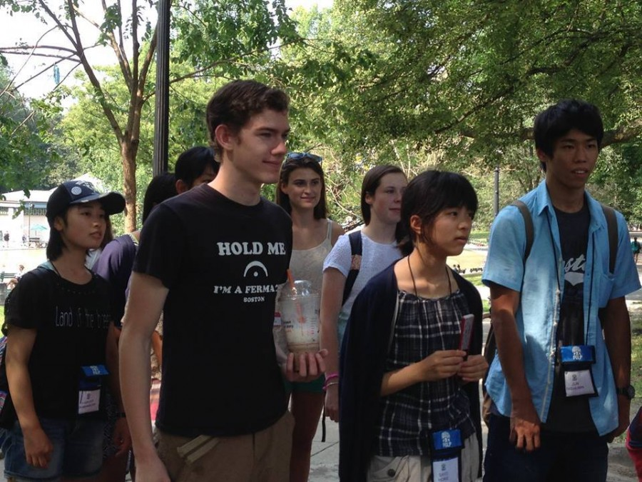 Students including Molly Casey, Michael Williams, and Maddie Stimson went on a tour of Boston for GCP this summer with students visiting from Osaka, Japan.