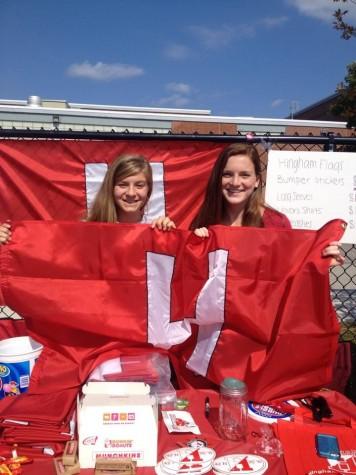 Mackenzie Hunt and Maddie McKenzie show their school spirit.