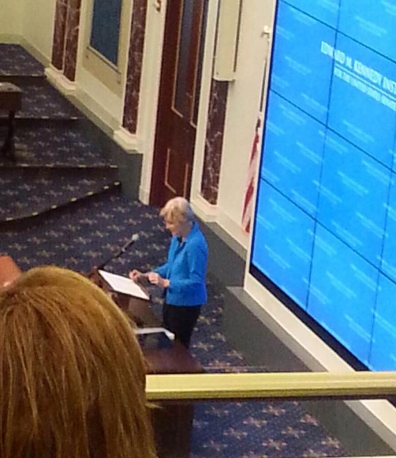 Warren delivers a groundbreaking speech
