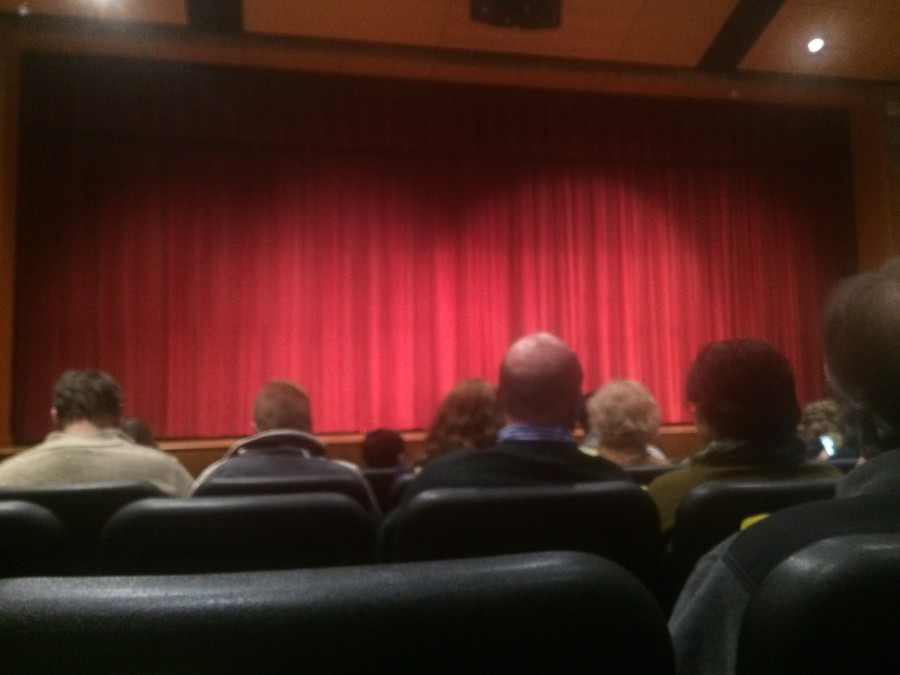 The curtain about to rise for Tuesday's One Act Play.