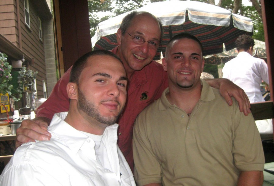 Patrick Avitabile (left) and James Avitabile (right) are pictured with their father Louis Avitabile (center). Patrick died of an overdose in August 2015; James died of an overdose in July 2013.