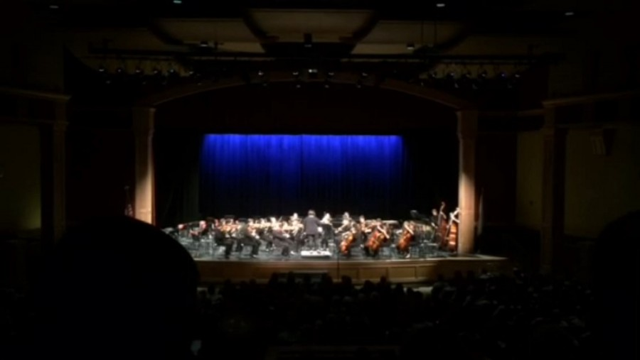 The Senior Chamber Orchestra during Sibelius's
