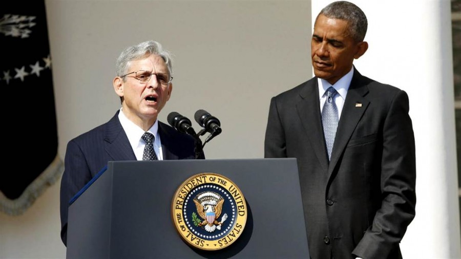 Judge Garland graciously accepts the President's nomination while surrounded by family, friends, and the Washington elite. In his acceptance speech, Garland called for an end to partisan politics when it came to the highest court in the land.