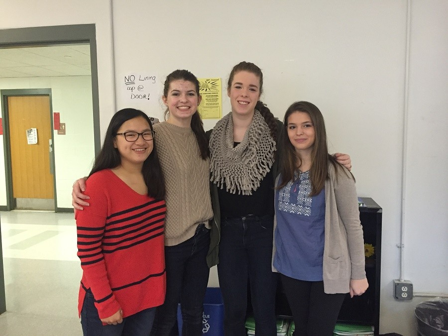 The creators of the Animal Rights Club. From left to right: Sophie Paven, Chloe Williams, Caroline Barry, Gianna Fasoli.
