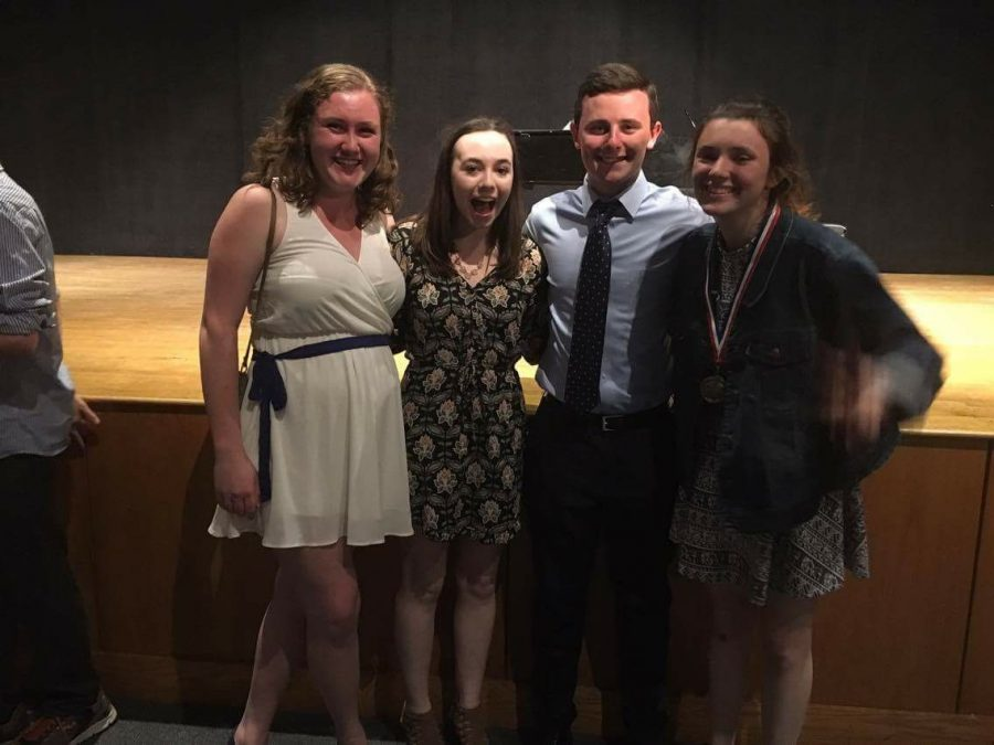 From left: Co-president Stephanie Pett, Secretary Greta Eustace, Co-president Matt Rice, and Treasurer Rose Flynn.