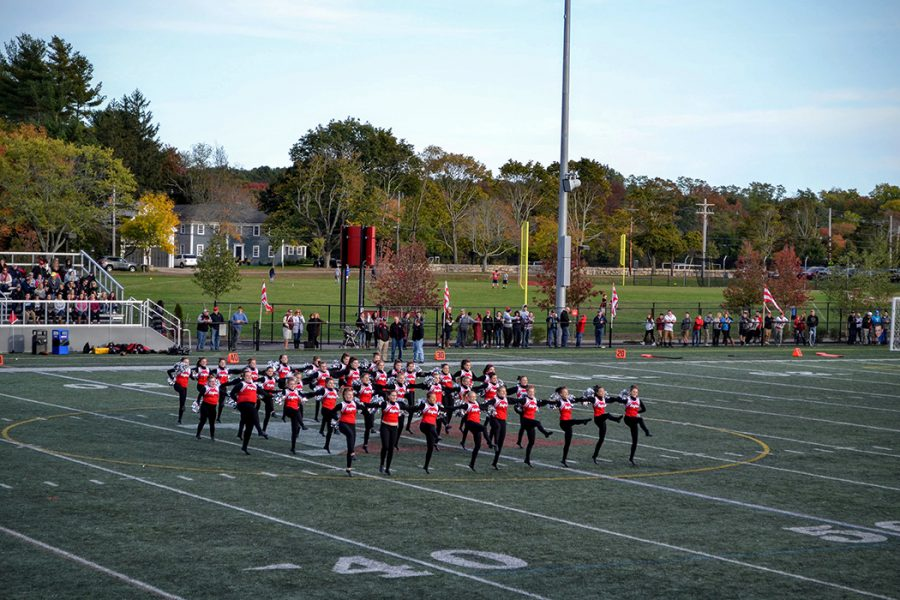 The+dance+team+perform+during+halftime+on+Saturday%27s+game.