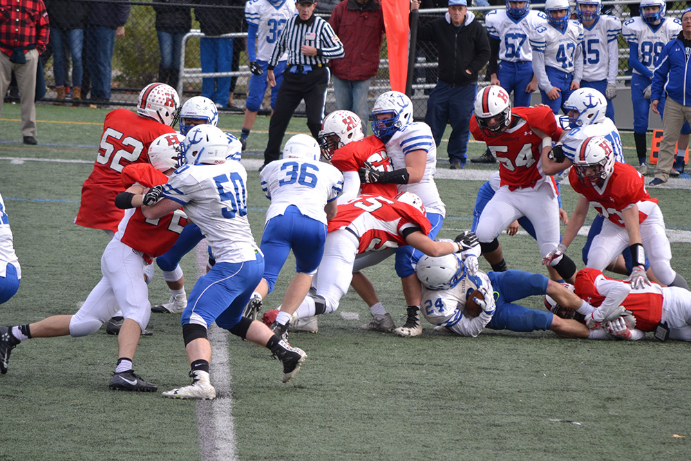 The Hingham Harbormen and Scituate Sailors faced off on Thanksgiving Day Thursday, November 24 2016.