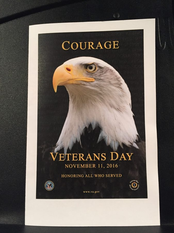 The booklet at the Veterans Day Event.