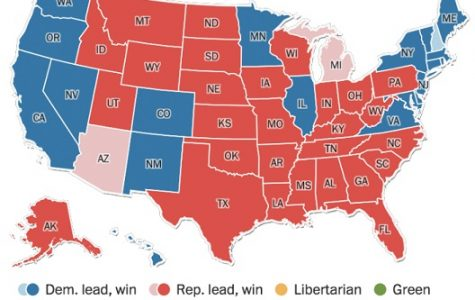 The Electoral College map on Election night via the Washington Post.