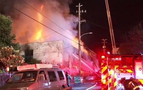 The Ghostship warehouse in Oakland, California burns down on December 2.
