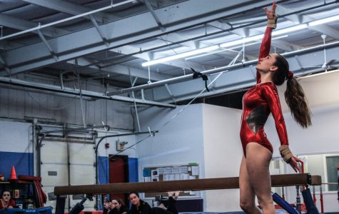 Red Versus Blue: HHS Gymnastics Defeats Scituate