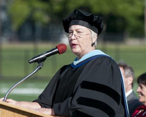 Dr. Paula Girouard McCann at Hingham High School's Class of 2014 Graduation