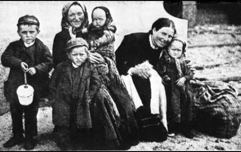 Irish family arriving in the United States in 1902.
