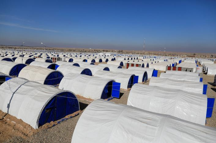 Refugee camps, like this one south of Mosul, have experienced a sudden influx of civilians fleeing the fighting in Mosul.