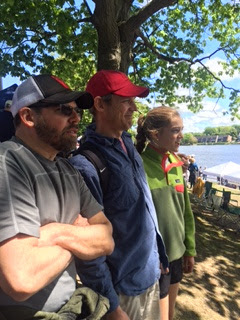 Parents Ross Kerber and Gates Bryant, as well as 8th grader Lily Bryant. watch the regatta.