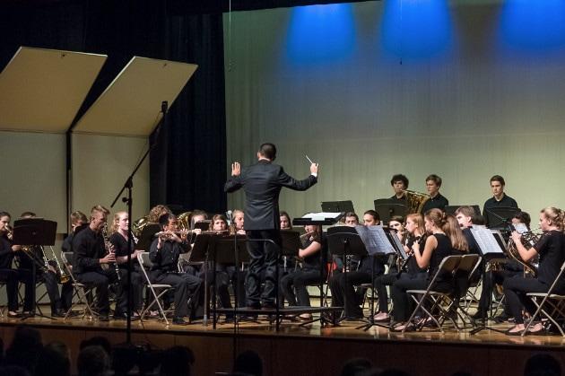 Mr. Cincotta conducting the High School Wind Ensemble.