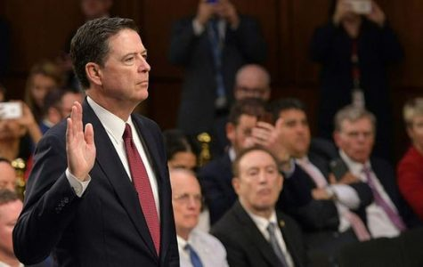 Comey taking oath at the hearing, swearing to tell the truth and nothing but the truth.