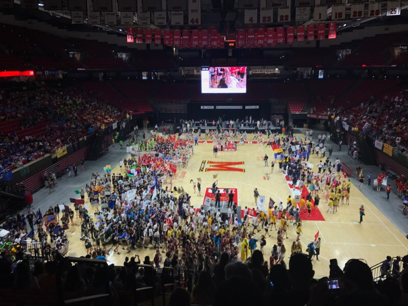 Students convene during the closing ceremony of NHD nationals (Photo courtesy Kyra McConnell).