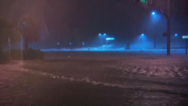 Hurricane Nate making landfall.  Photo Credits CNN