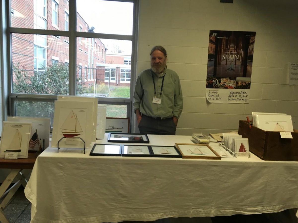 Matt Cooper representing M.A Cooper Designs at his stand on Saturday afternoon.