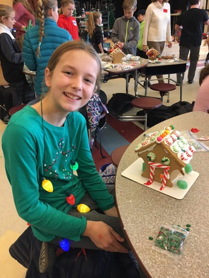Fifth grader Olivia Robinson shows off her work!
