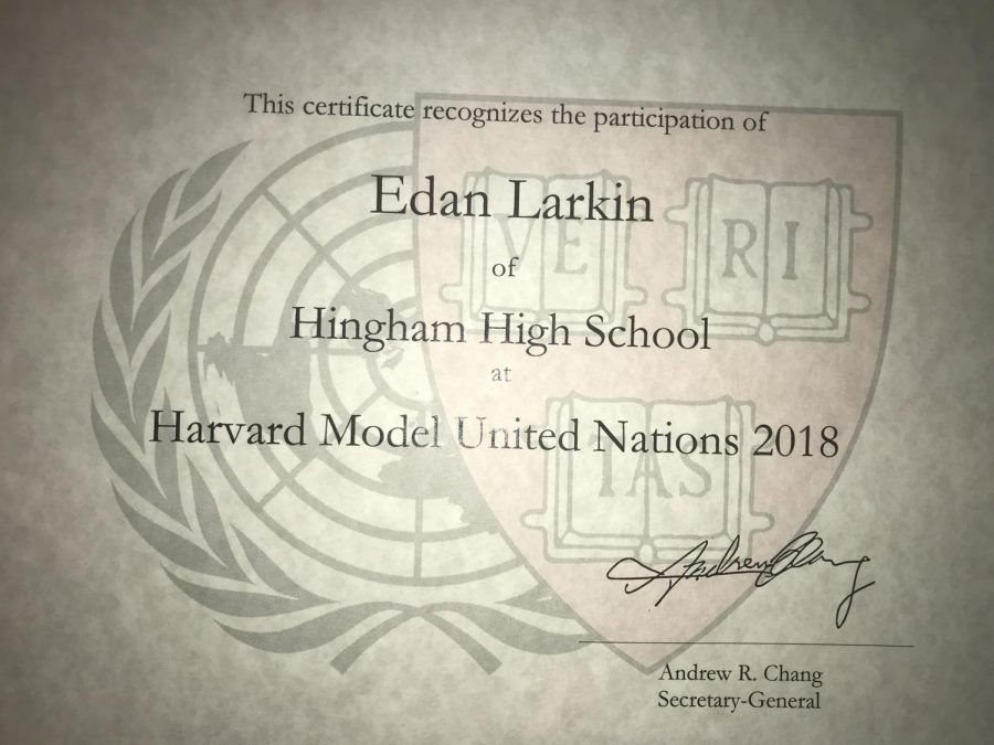 The certificates given to every delegate upon his or her completion of HMUN.