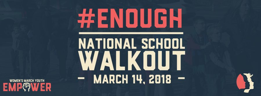 The+Women%27s+March+encourages+participation+in+the+nationwide+school+walkout+on+March+14%2C+2018.