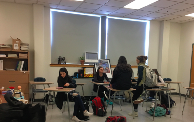 An informal discussion in room 135 about the upcoming mentor program events held during this past Thursday March 8, 2018 meeting.
