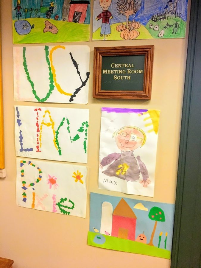 Drawings by students from East Elementary School.