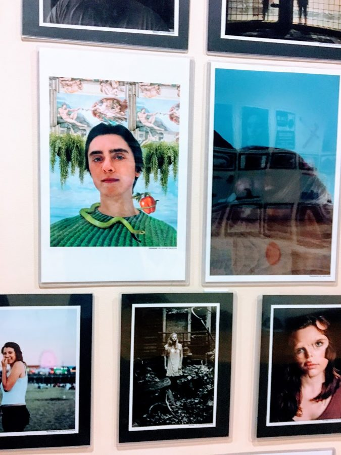 Photography pieces by Hingham High School students.