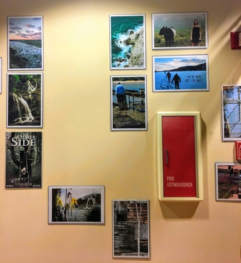 The work of graphic design and photography students from Hingham High School.