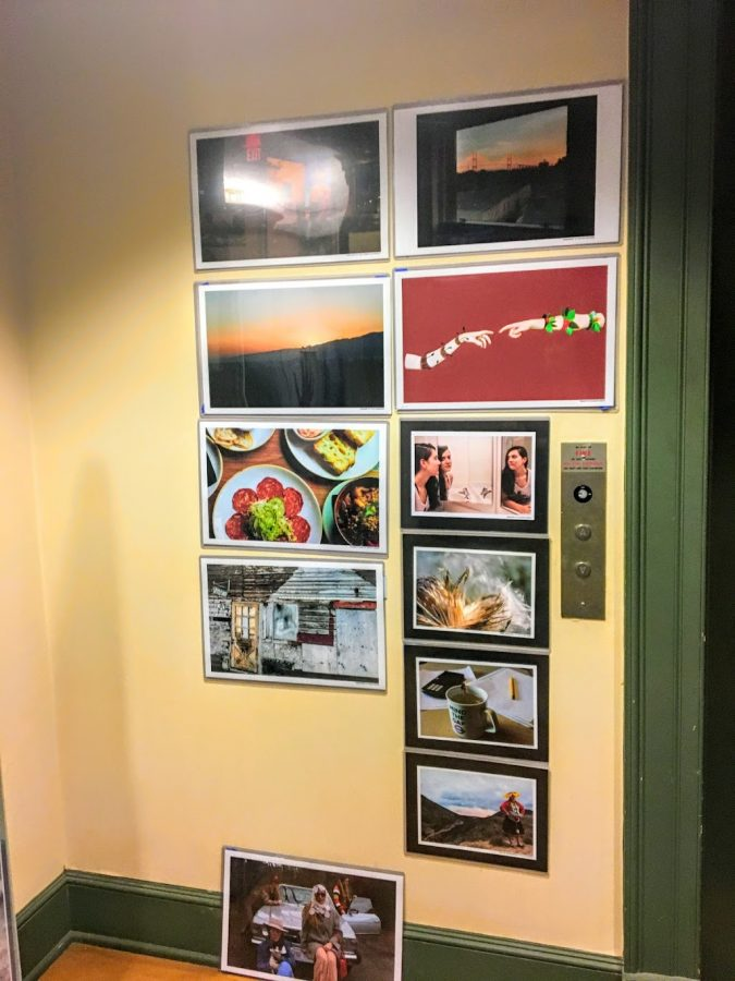 The work of photography and graphic design students from Hingham High School.