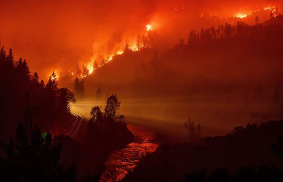 Wildfires ravaged California during November. (Josh Edelson/ Associated Press)