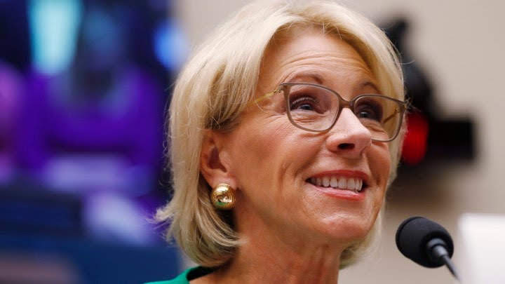 U.S. Secretary of Education Besty DeVos announced the changes to Title IX in November. (LEAH MILLIS / REUTERS)
