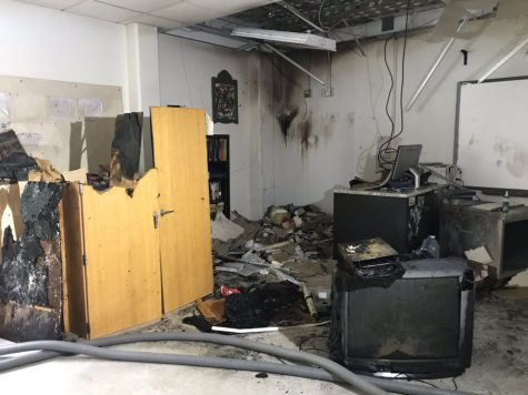 Classroom Fire Disrupts HHS End of Year Schedule