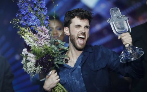 Dutch singer Duncan Laurence celebrates after winning the Eurovision Song Contest.