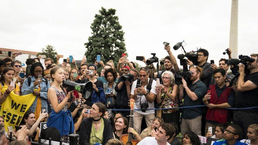 Greta+Thunberg+speaks+to+crowds+in+Washington+DC.