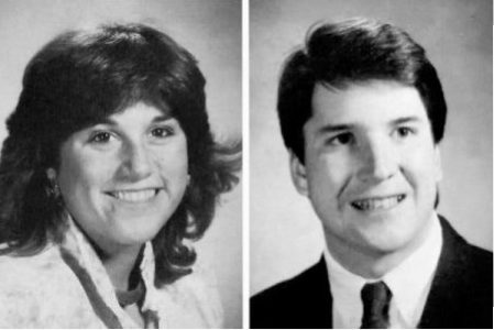 A year ago, Ramirez (left) accused Kavanaugh(right) of sexual misconduct during a party when both were freshman at Yale. New York Times